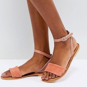 ASOS NWT Peachy Apricot Leather Sandals